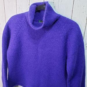 Vintage J. Crew Purple/Blue Wool High Neck Sweater